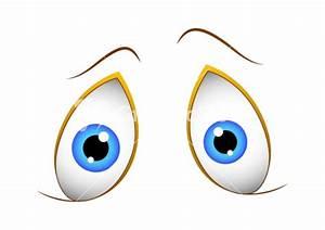 Shocked Cute Cartoon Eyes Stock Image