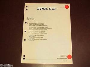 Stihl Electric Chainsaw Spare Parts List Diagram Reference