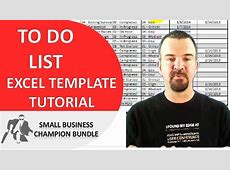 To Do List Excel Template Printable Weekly Templates