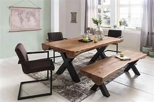 Esstisch Für 6 Personen : finebuy esszimmertisch akazie landhaus stil real ~ Markanthonyermac.com Haus und Dekorationen