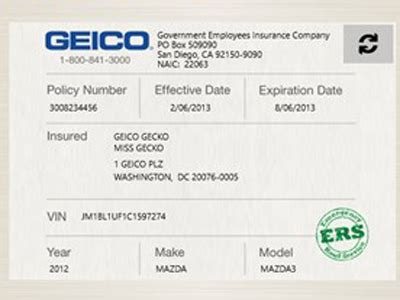proof  auto insurance template  template business