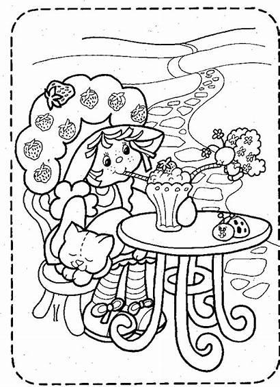 Strawberry Shortcake Coloring Mewarnai Kartun Gambar Tokoh