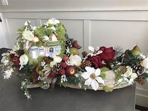 Art Floral Centre De Table Noel : centre de table no l bois flott clair e b b d coration de etsy ~ Melissatoandfro.com Idées de Décoration