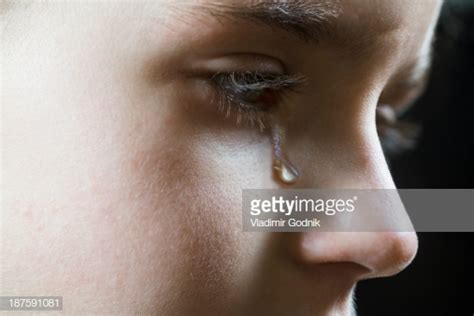 shed tear closeup of a shedding a tear stock photo getty images
