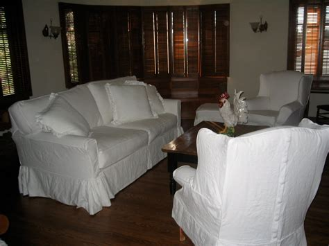 a of this that and the other white linen slipcovers