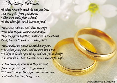 wedding bond poems  family