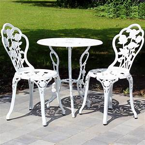 Bistrotisch Und Stühle : tisch 2 st hle bank antik weiss gr n bistro set garten ~ Michelbontemps.com Haus und Dekorationen