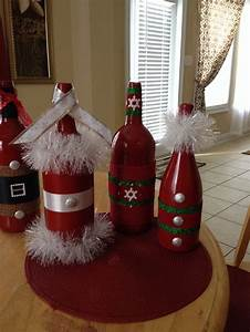 26, recycled, wine, bottle, christmas, light, luminaries