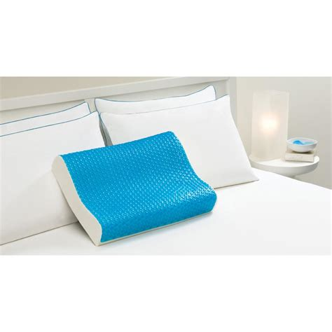 memory foam contour pillow hydraluxe memory foam hydraluxe gel contour pillow