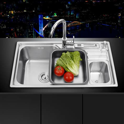 sink  shipping single groove single bowl vegetable washing basin pots  stainless steel