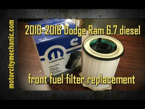 Dodge Fuel Filter Replacement by How To Replace Cummins Fuel Filter With Sea Foam Doovi