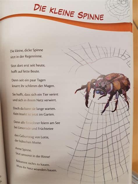 die kleine spinne gedicht kita kindergarten er