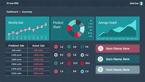 Animated Flat Sales Dashboard for PowerPoint - SlideModel ...