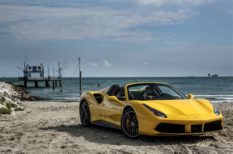 488 Spider 4k Wallpapers by 488 Spider Yellow Side View 4k Ultra Hd Wallpaper