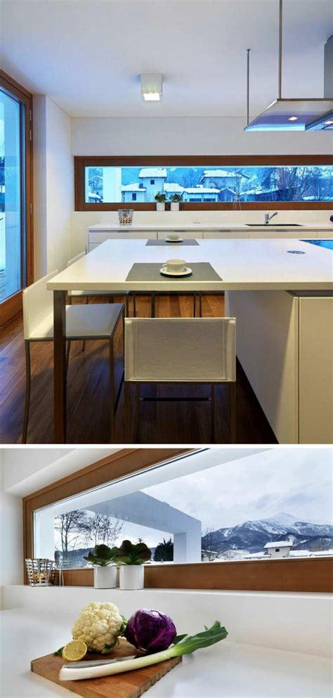 proportion cuisine fenêtre bandeau pour déco de cuisine contemporaine