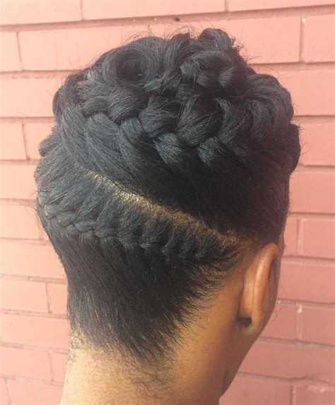 easy braided updo hairstyle in 2019 protective