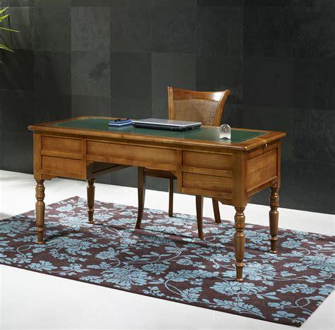 bureau de ministre ancien bureau ministre 5 tiroirs en merisier massif de style