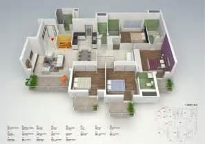 50 four 4 bedroom apartment house plans architecture design - One Story Four Bedroom House Plans
