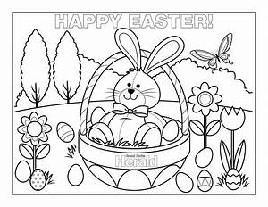 happy easter coloring pages - Free Large Images