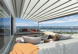 pergola markise exklusive beispiele und hersteller With markise balkon mit rote tapete wohnzimmer