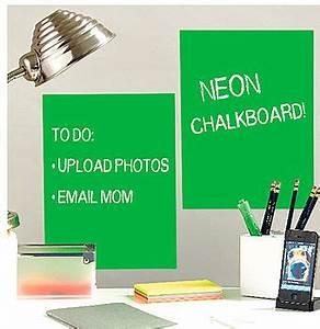 neon chalkboard wall sticker by thelittleboysroom