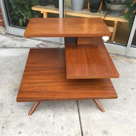 The most widely used will be the. Mid-Century Three Tier Walnut Coffee or Side Table | Chairish
