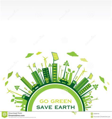 environment friendly design creative eco friendly city design vector stock vector image 43268169