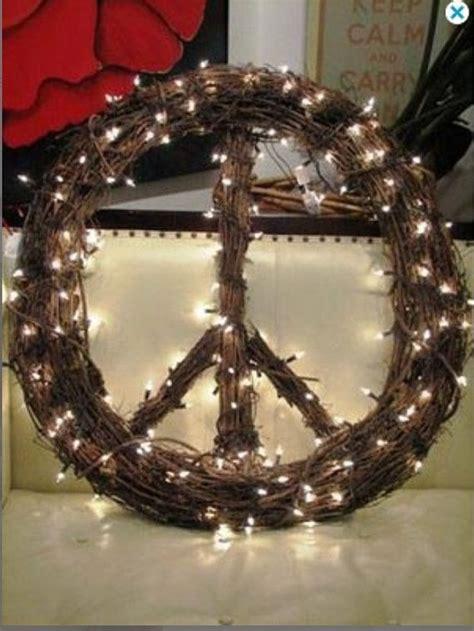 grapevine peace sign wreath peace  earth