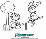 Seesaw Coloring Pages Saw Playground Drawing Sketch Fun Printable Crafts Scribble Template Getdrawings sketch template