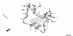 Honda Motorcycle 2012 Oem Parts Diagram For Ignition Coil