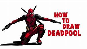 How To Draw Deadpool | Drawing Deadpool full Body ...