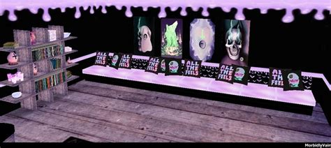pastel goth 3d design couch posters shelf room art