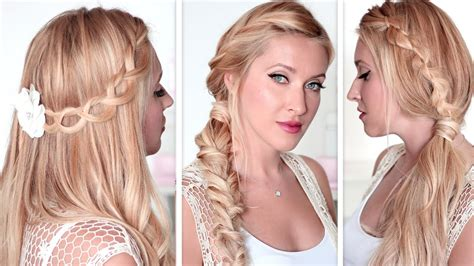 and easy back to school hairstyles lazy last minute braids for medium hair tutorial