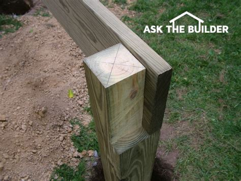 Notching 6x6 Deck Posts by Building A Deck Ask The Builderask The Builder