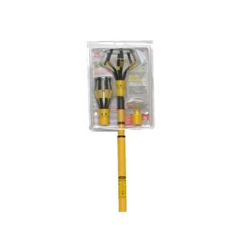 bayco 11 ft pole light bulb changer kit with attachments