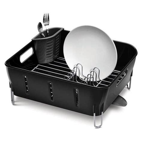 buy simplehuman black compact dish rack amara