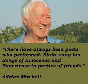 Adrian Mitchell... Andrew Mitchell Quotes