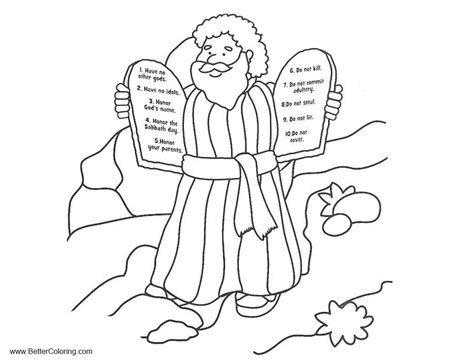 ten commandments coloring pages  drawing