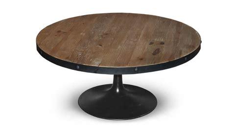 table basse ronde cogolin de style industriel mobilier moss