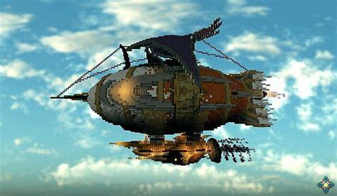 marvelous glacier steampunk airship minecraft building