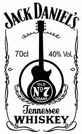 Jack Daniels Label Stencil Trovoadasonhos sketch template