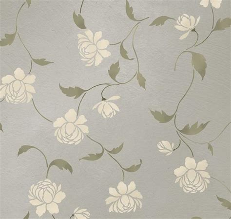 items similar  stencil peony allover floral pattern