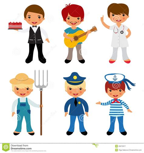 12202 different professions clipart professional occupations icons stock vector illustration