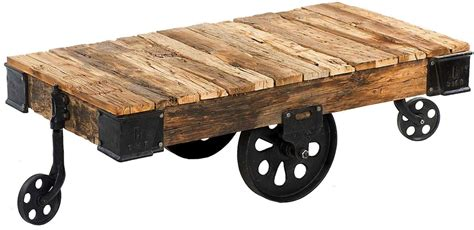 farmhouse home designs custom reproduction industrial factory cart coffee table
