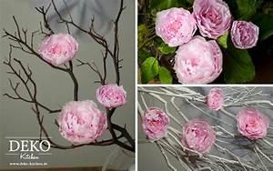 Rosen Aus Seidenpapier : diy h bsche pfingstrosen aus krepp papier deko kitchen ~ Lizthompson.info Haus und Dekorationen