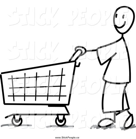 grocery clipart black and white food shopping clipart black and white clipground