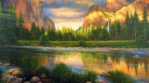 yosemite, Sunset, Painting, Drawing Wallpapers HD ...