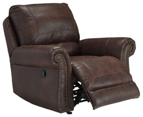 breville faux leather rocker recliner espresso