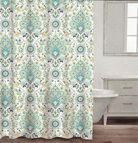 100 cotton shower curtain turquoise aqua