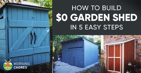 build   garden storage shed
